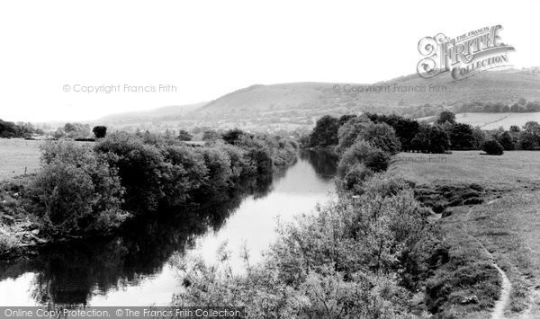 Photo of Abergavenny, River Usk c.1965