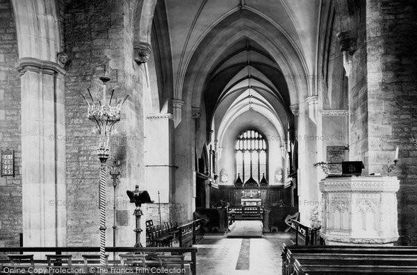 Photo of Abergavenny, St Mary's Church Interior 1898