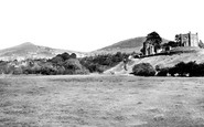 Abergavenny, Sugar Loaf And Rholben From The River Usk c.1960