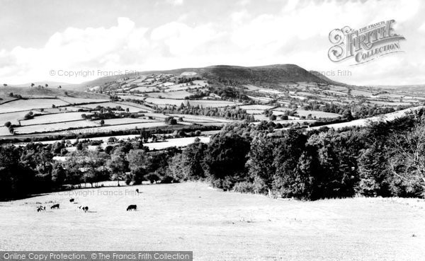 Photo of Abergavenny, The Black Mountains From Crucorney c.1960