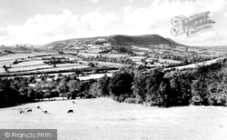 Abergavenny, The Black Mountains From Crucorney c.1960