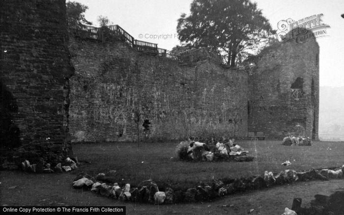 Photo of Abergavenny, The Castle 1953