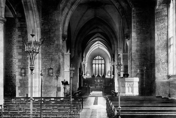 Photo of Abergavenny, The Church Interior 1898