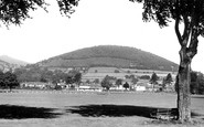 Abergavenny, the Deri from Bailey Park c1960