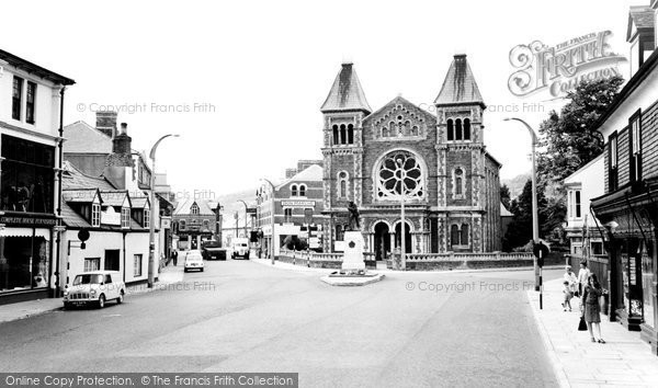 Photo of Abergavenny, The Monument And Baptist Church c.1965