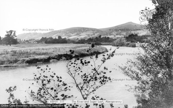 Photo of Abergavenny, The River And Sugar Loaf c.1960