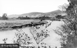 Abergavenny, The River And Sugar Loaf c.1960