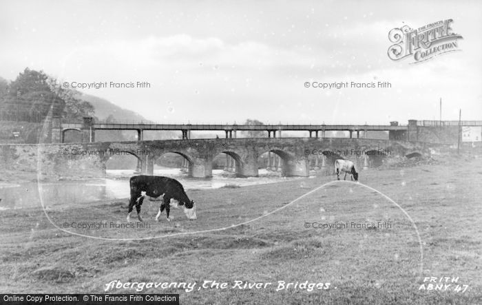 Photo of Abergavenny, The River Bridges c.1955