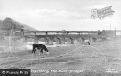 Abergavenny, The River Bridges c.1955
