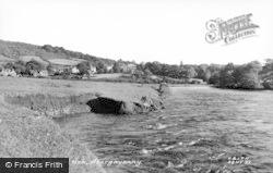 Abergavenny, The River Usk c.1955
