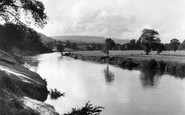 Abergavenny, the River Usk c1955