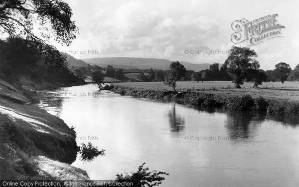 Photo of Abergavenny, the River Usk c1955
