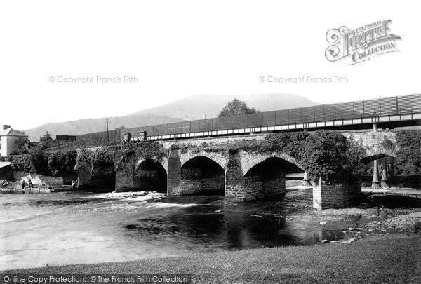 Photo of Abergavenny, Usk Bridge 1893