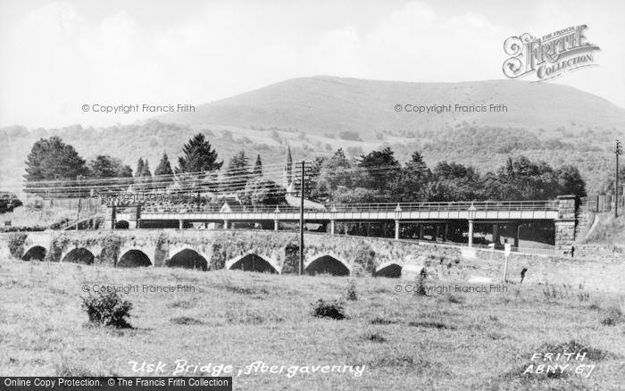 Photo of Abergavenny, Usk Bridge c.1950