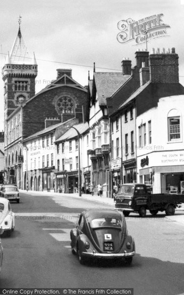 Photo of Abergavenny, Vw Car In Cross Street c.1965