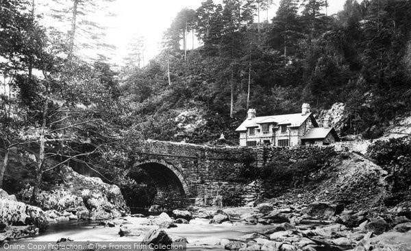 Photo of Aberglaslyn Pass, Bridge And Cottage 1889