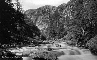 Aberglaslyn Pass, c1875