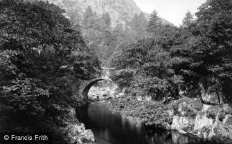Aberglaslyn Pass, Pont Aberglaslyn c1875