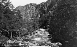 Aberglaslyn Pass, The Falls 1925, Pass Of Aberglaslyn