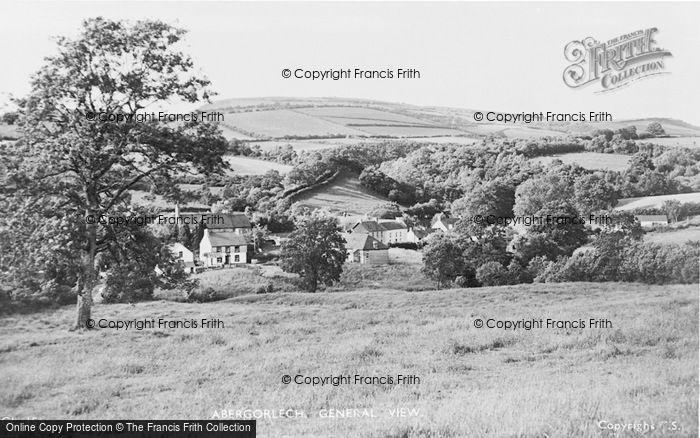 Photo of Abergorlech, General View 1950