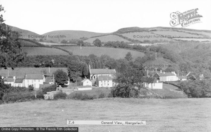 Photo of Abergorlech, General View c.1955