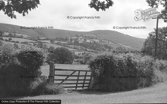 Photo of Abergorlech, Mountains From Near The Post Office 1950