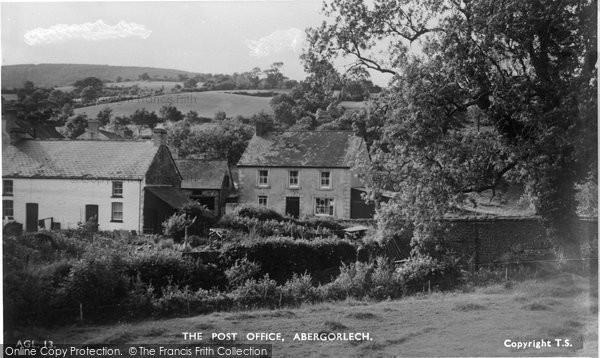 Photo of Abergorlech, Post Office 1950