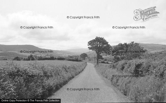 Photo of Abergorlech, The Approach Road 1950