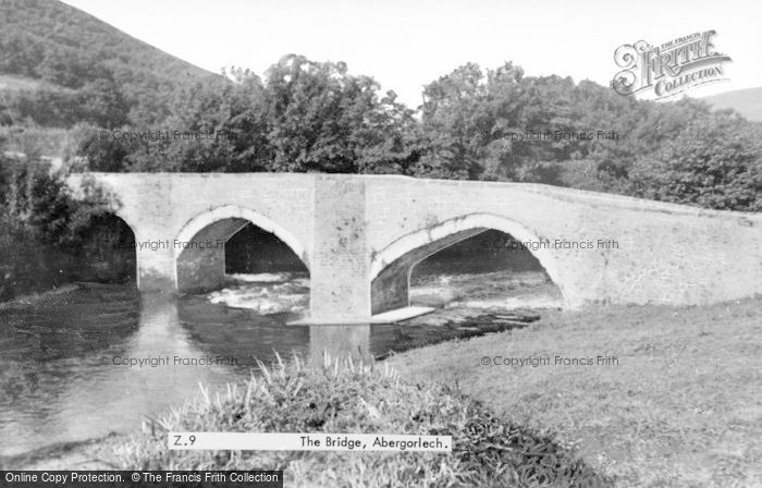 Photo of Abergorlech, The Bridge c.1955