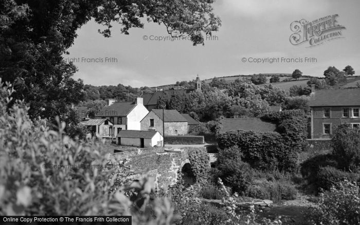 Photo of Abergorlech, The Village 1950