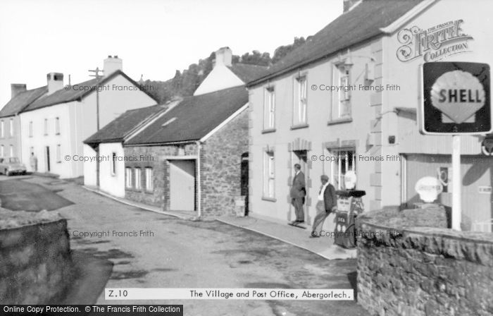 Photo of Abergorlech, The Village And Post Office c.1955