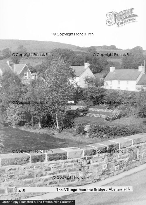 Photo of Abergorlech, The Village From The Bridge c.1955