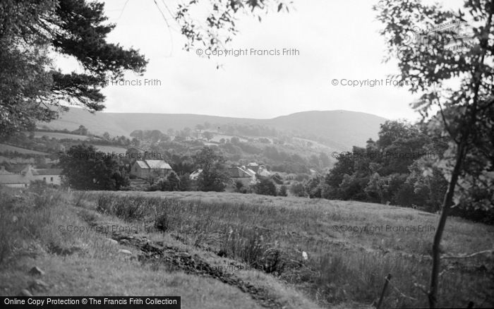 Photo of Abergorlech, Village From The East 1950
