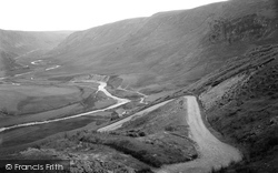 View From Hair Pin Bend, Devil's Staircase c.1950, Abergwesyn