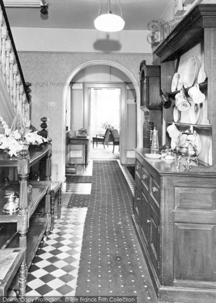 Photo of Abergwyngregyn, Aber Hotel, The Hall c.1960