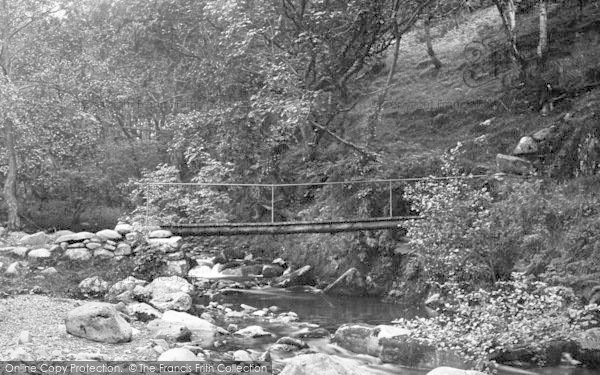 Photo of Abergwyngregyn, Aber Valley, Footbridge 1896