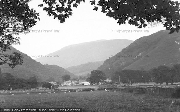 Photo of Abergwyngregyn, And The Mountains From Aber Hotel c.1950