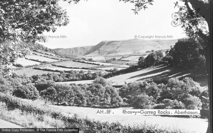 Photo of Aberhosan, Rhos Y Garreg Rocks c.1953