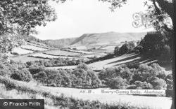 Aberhosan, Rhos-Y-Garreg Rocks c.1953