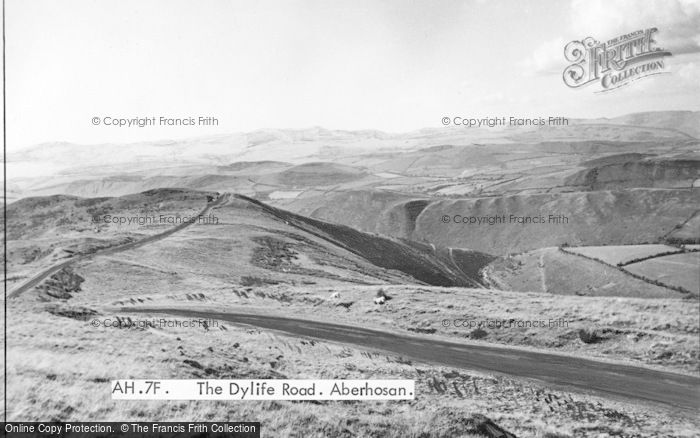 Photo of Aberhosan, The Dylife Road c.1955