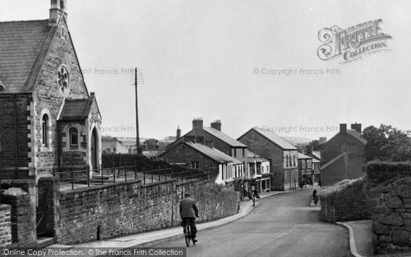 Photo of Aberkenfig, Bridgend Road c.1955