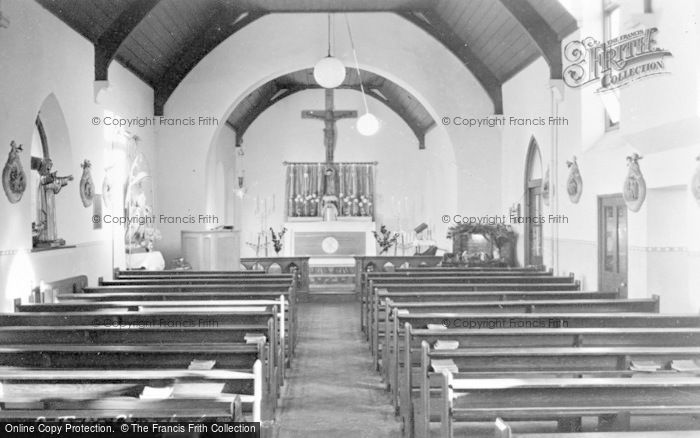 Photo of Aberkenfig, Catholic Church Of St Robert, Interior c.1955