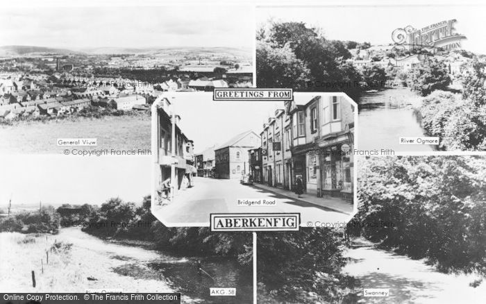 Photo of Aberkenfig, Composite c.1960