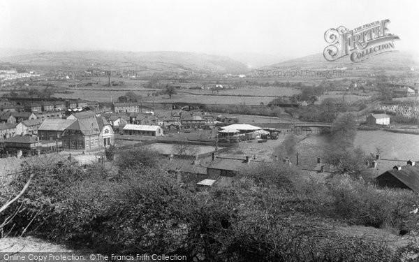 Photo of Aberkenfig, From Penlan c.1955