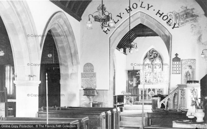 Photo of Aberkenfig, Llansantffraid Church, Interior c.1955