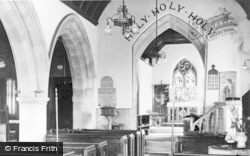 Aberkenfig, Llansantffraid Church, Interior c.1955