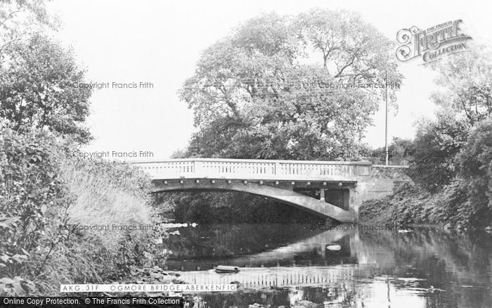 Photo of Aberkenfig, Ogmore Bridge c.1955