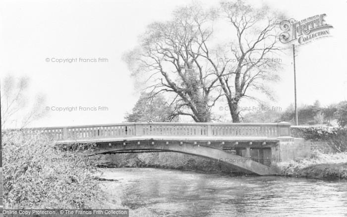 Photo of Aberkenfig, River Ogmore And Bridge c.1955