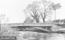 Aberkenfig, River Ogmore And Bridge c.1955