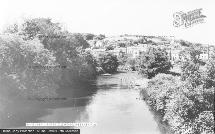 Photo of Aberkenfig, River Ogmore c.1955